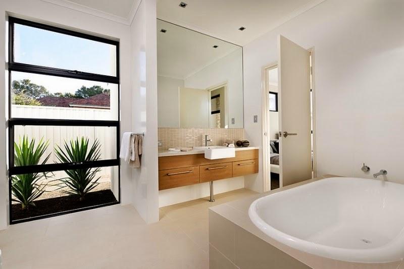 Baño Con Vista Al Jardin:Diseño de Interiores & Arquitectura: Estilo y Funcionalidad Expuesto