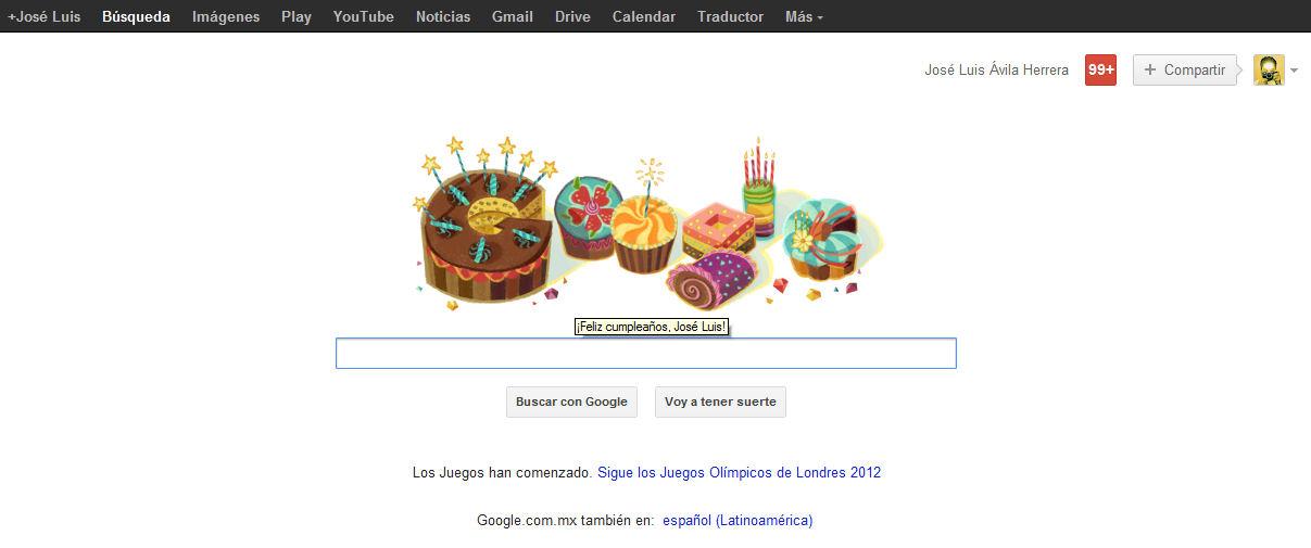 Google felicita a José Luis Ávila Herrera por su cumpleaños
