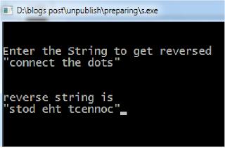 Reverse string c code