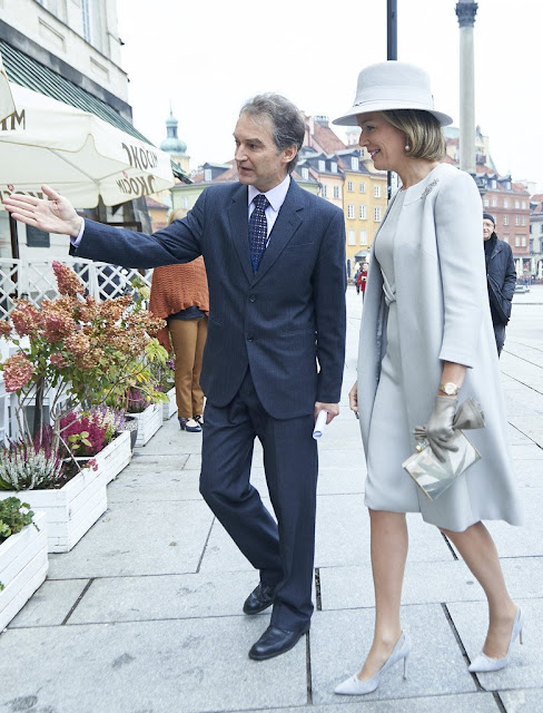 Queen Mathilde of Belgium and First Lady Agata Kornhauser-Duda visits Wolfgang Goethe college as part of official Royal visit in Poland