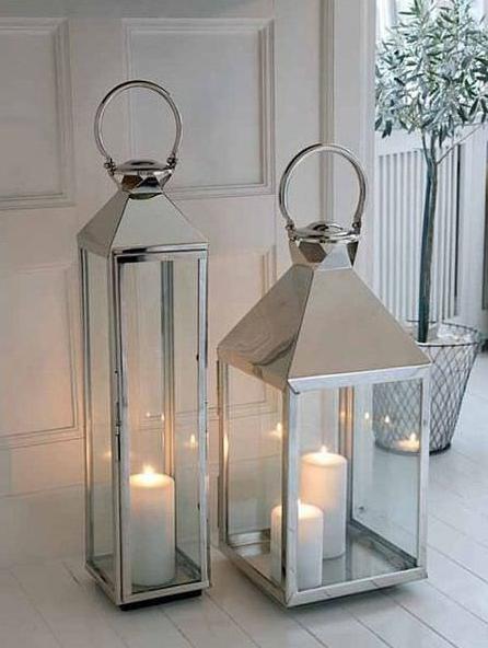 um objeto decorativo de casa que eu gosto muito, são as lanternas