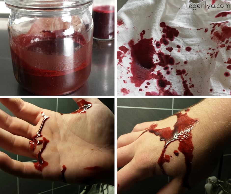 hur får man bort fake blod