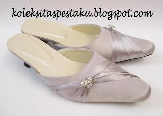Slop Pesta Cantik Silver