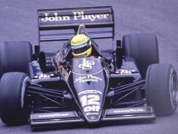 1985 Carro Ayrton Senna Fórmula 1 Lotus