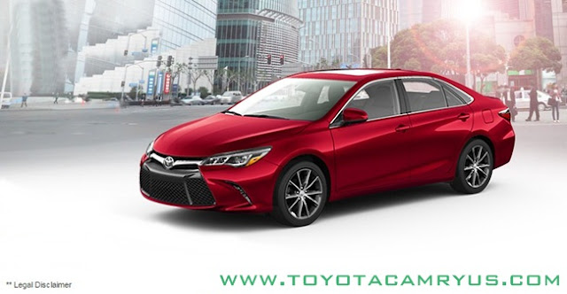 2017 Toyota Camry Sedan LE, SE and XLE / Hybrid Red