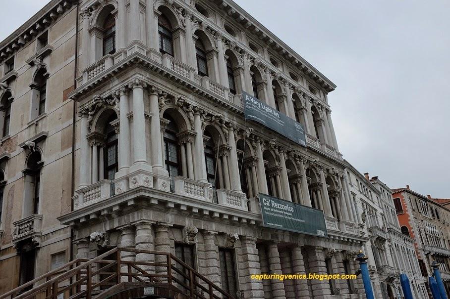 Exterior of Ca' Rezzonico, Venice capturingvenice.blogspot.com