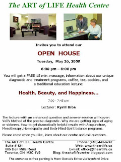 Art of Life Health Centre Open House: Health, Beauty, and Happiness