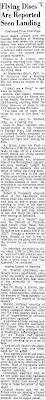 Woman Reports Seeing Flying Disc Land as Aircraft Maintain Lookout - Richmond Times-Dispatch (-cont) 7-7-1947