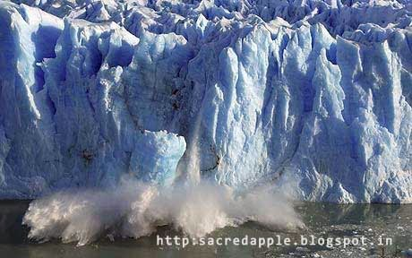melting ice due to global warming