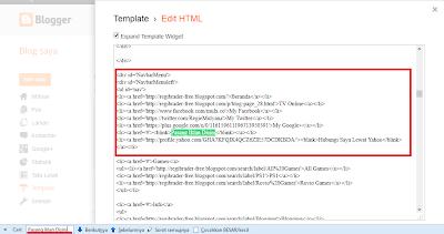 Cara Mengedit Halaman Template Bawaan Hasil Download pada Blog