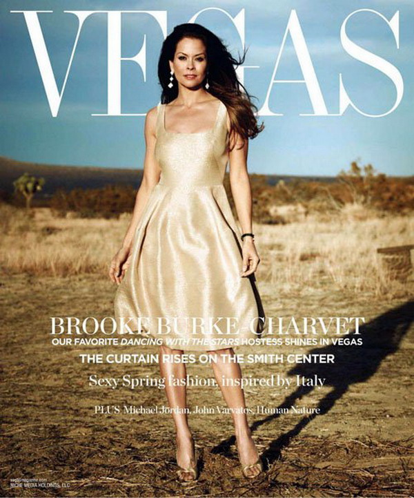 Brooke Burke Charvet Wear DOLCEu0026GABBANA Dress Appeared On Magazine Vegas