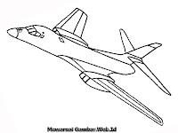 Gambar Pesawat Jet Untuk Diwarnai