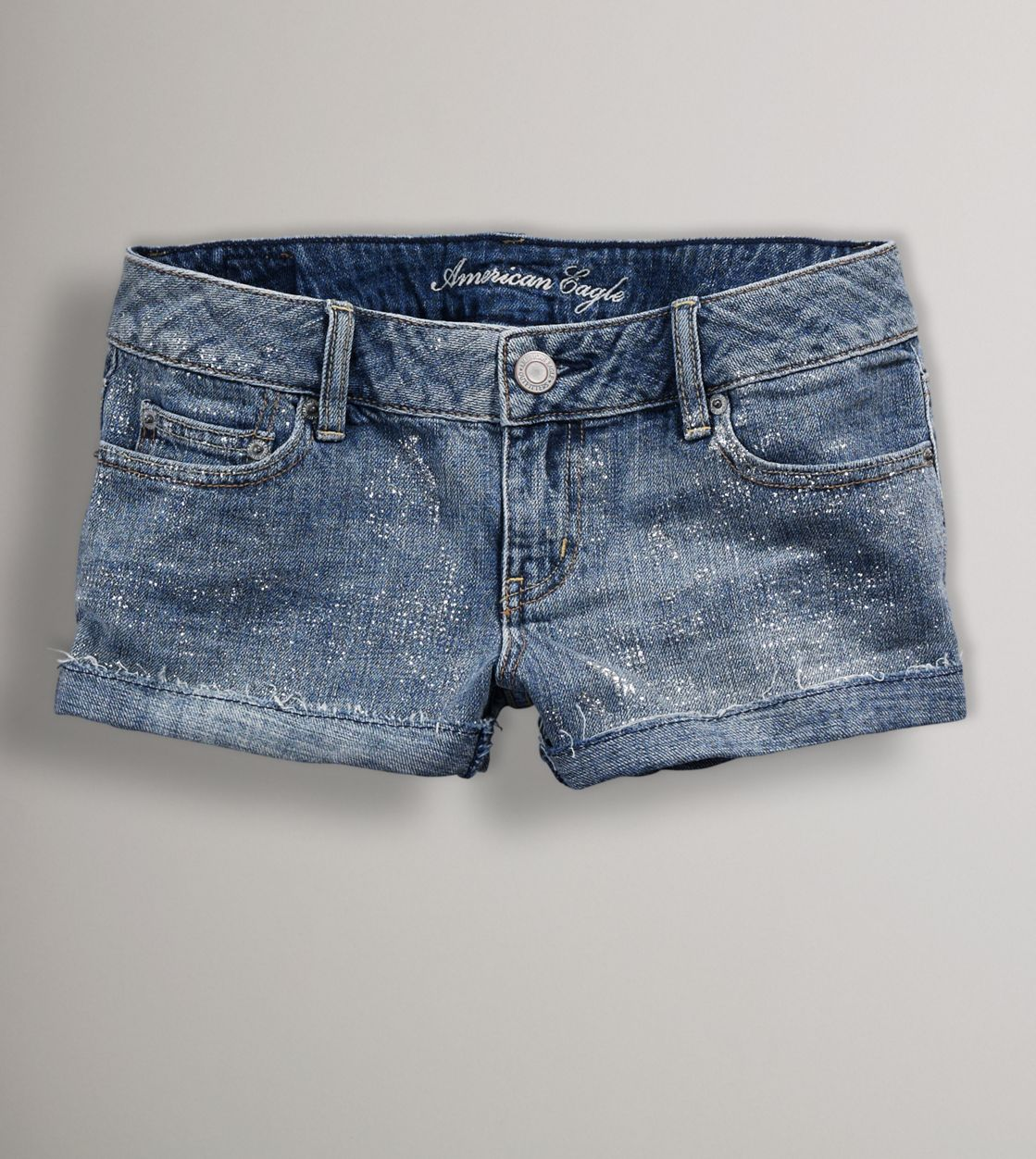 jeannies obsessions american eagle glitter shorts