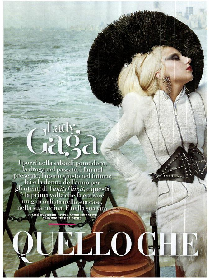 Lady Gaga is bold in red for Vanity Fair Italy