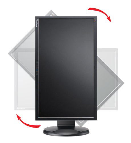 ViewSonic VP2365wb LCD IPS Monitor rotated portrait mode