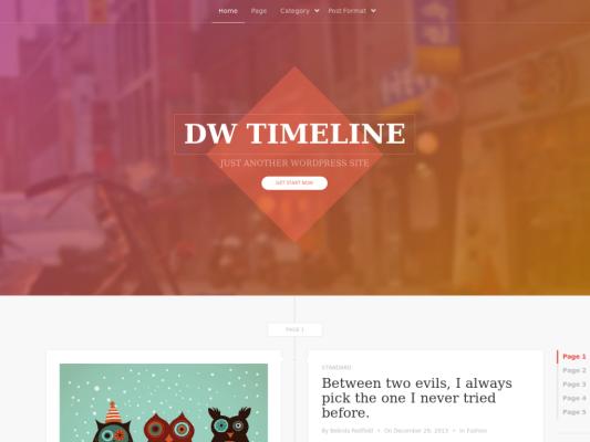DW Timeline Free WordPress theme 2014
