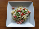 Herb Butter-and-Goat Cheese Linguini with Fresh Tomatoes