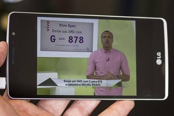 O LG G4 Stylus trabalha com o padrão de televisão digital Full Seg