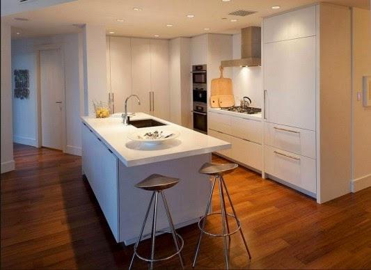 moveis para sala de jantar Casa contemporânea com design feminino