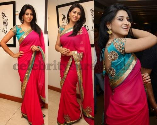 Model Shamili Pink Designer Sari