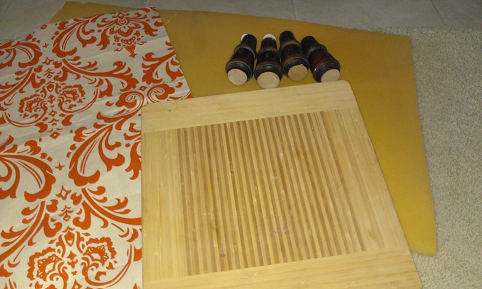 Thrifty Treasures: How To Make A Foot Stool. Full resolution‎  picture, nominally Width 1600 Height 958 pixels, picture with #B74908.