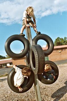 Columpios con neumáticos
