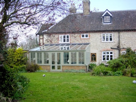 Farrow and Ball French Gray exterior paint conservatory