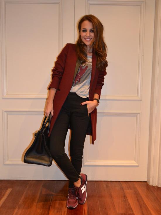 Zapatilla Mujer Vestir Color Granate