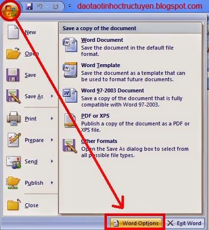 Cách thay đổi đơn vị đo từ inch sang cm trong Word 2007