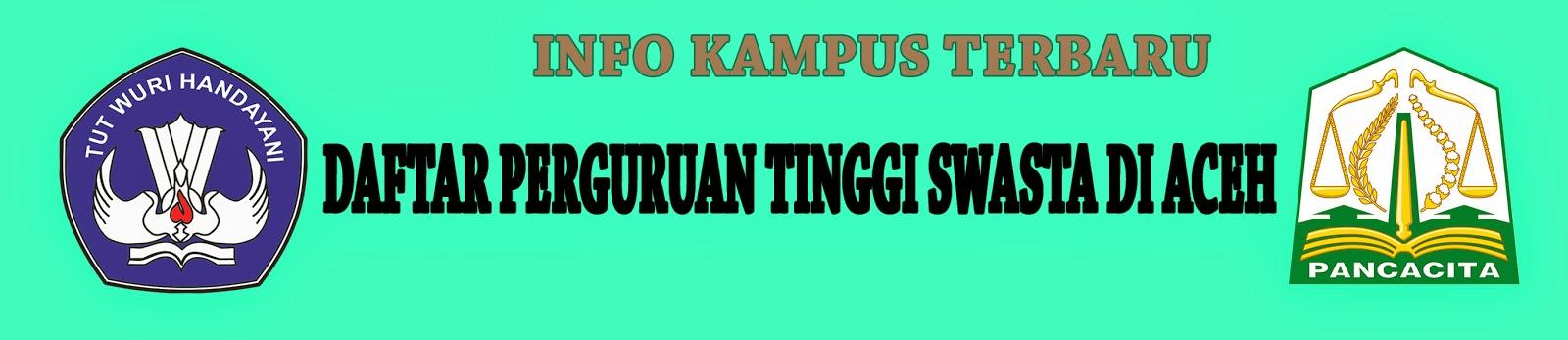Daftar Perguruan Tinggi Swasta Di Aceh