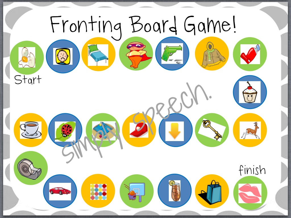 Fronting A Minimal Pairs Pack Simply Speech