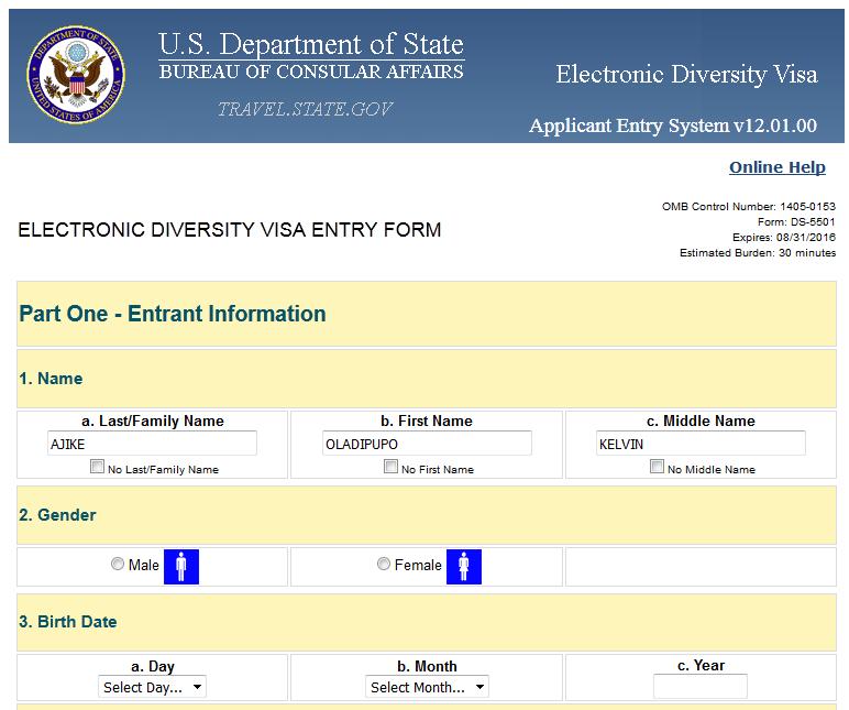 How to Apply For Diversity America Visa Lottery program 2017(Entry ...