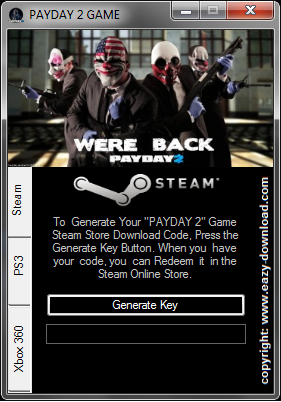 Download PAYDAY 2 Keygen For Steam/PC