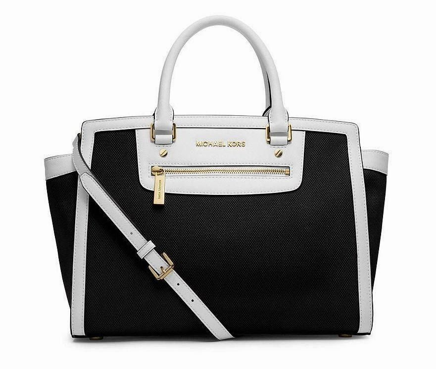 Michael Kors Canvas Medium Selma Satchel