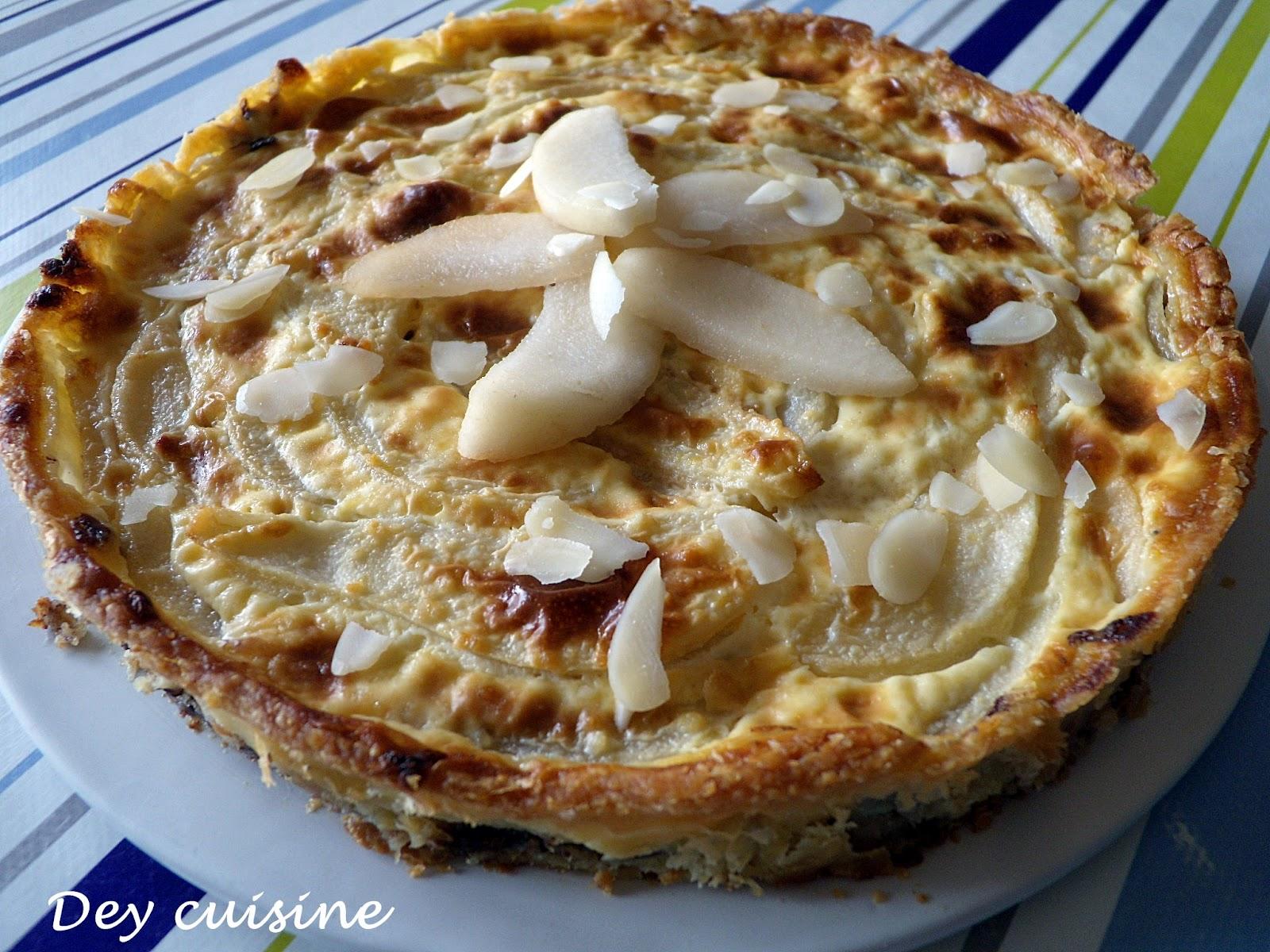 Dey cuisine tarte aux poires chocolat croquant - Tarte poire chocolat sans oeuf ...