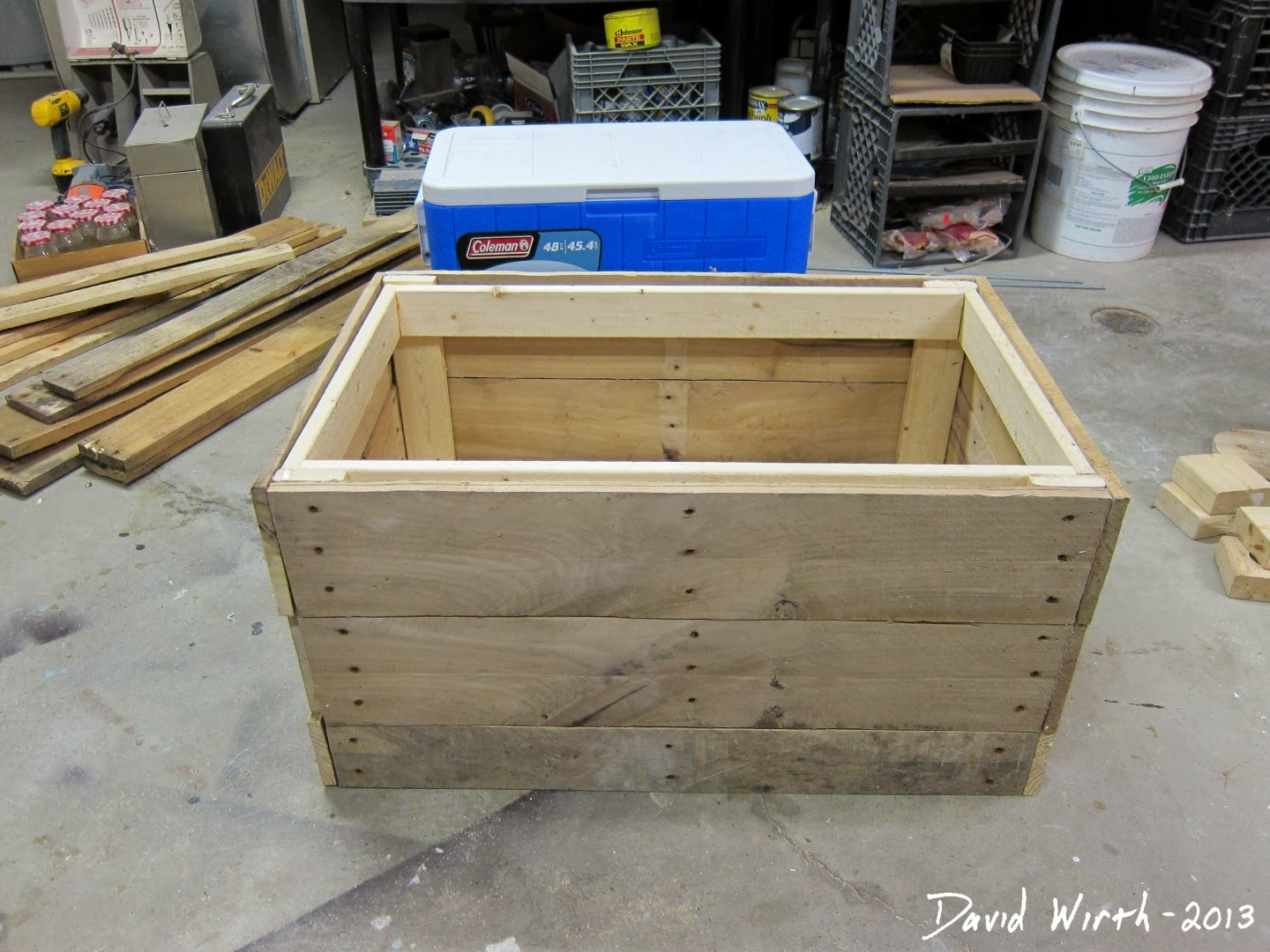 plans drawings rustic cooler stand wood pallets pinterest