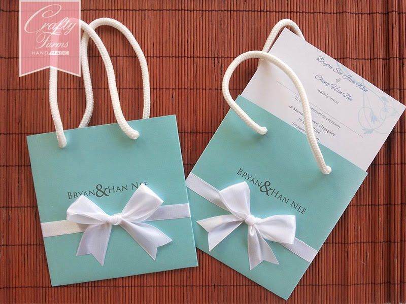 Wedding Card Malaysia | Crafty Farms Handmade : Tiffany Inspired ...