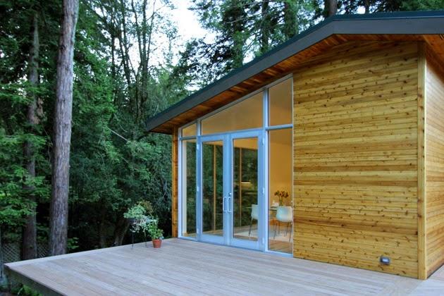 Desain Rumah Sederhana dengan Dinding Kayu Rancangan Desain Rumah Sederhana dengan Dinding Kayu