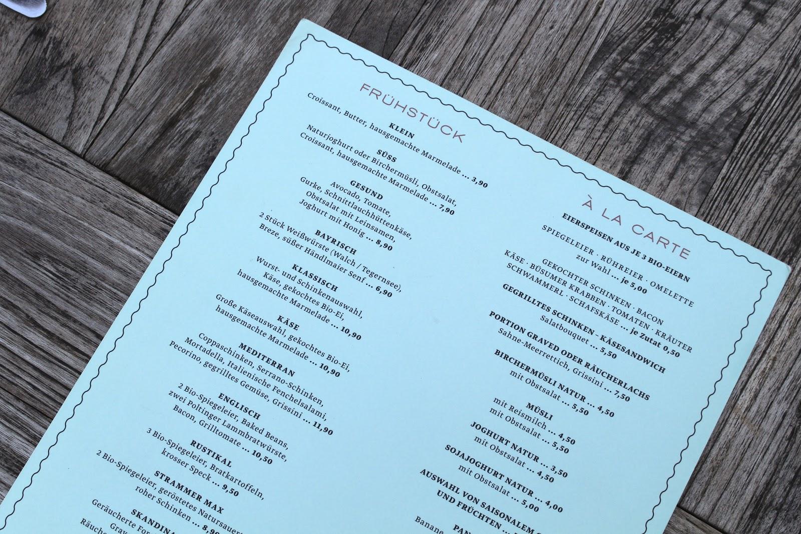 Café Reitschule frühstück menu Munich