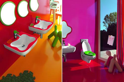 Baño Ninos Decoracion:Baños de colores para niños