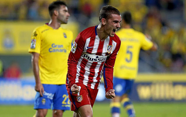 video goles UD Las Palmas 0 - Atlético  Madrid 3 doblete Griezmann