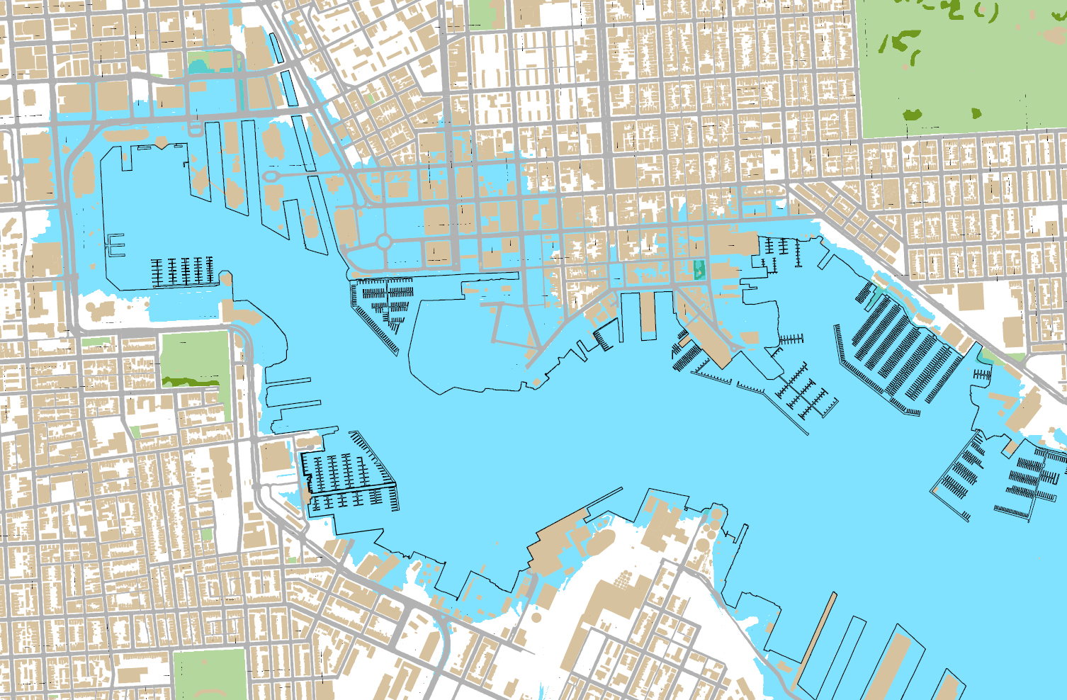 isabel flooding around the baltimore inner harbor beyond the black usual shore lines source baltimore city dp3 website