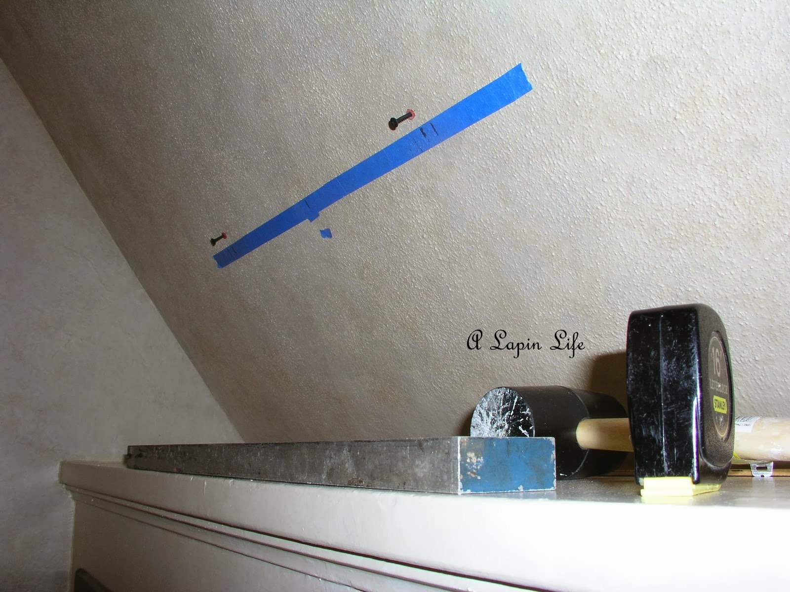 A lapin life how to decorate slanted walls for How to decorate slanted ceilings