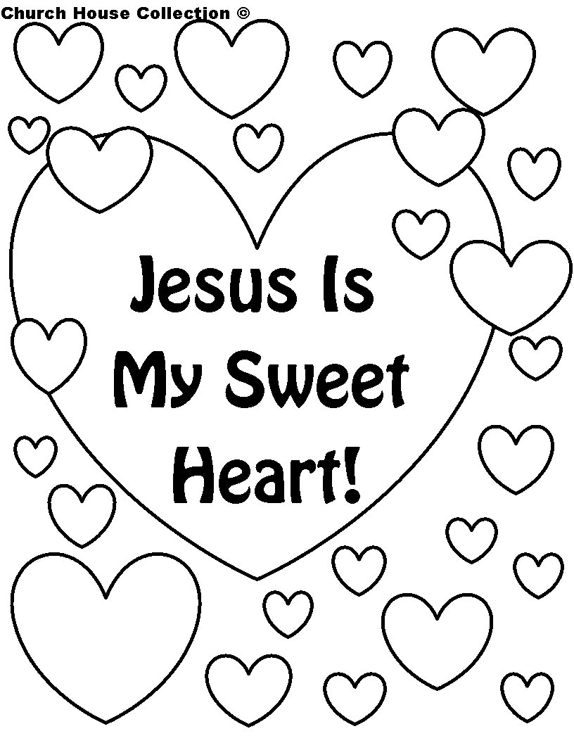 jesus valentine coloring pages - photo#7