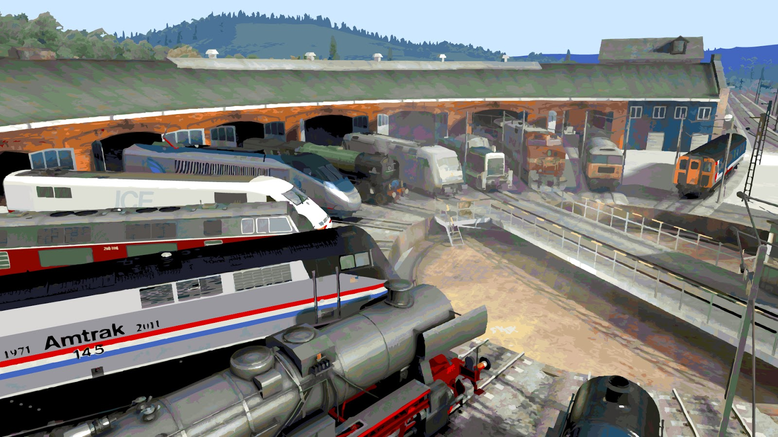 Euro Train Simulator For PC Windows 7, 8, 10, xp Free