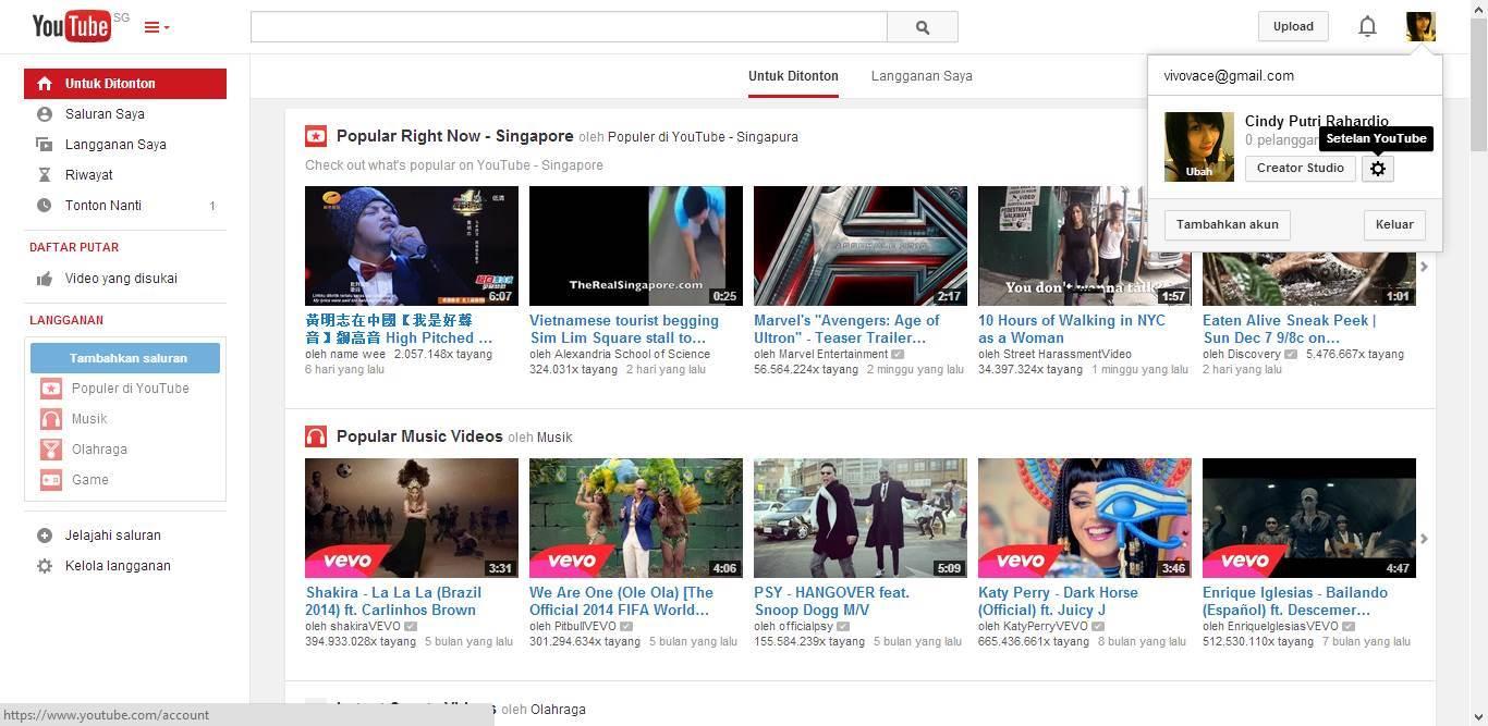 Daftar AdSense dari YouTube
