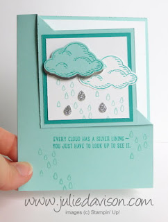 VIDEO TUTORIAL: Stampin' Up! Sprinkles of Life Corner Flip Card #stampinup #video www.juliedavison.com