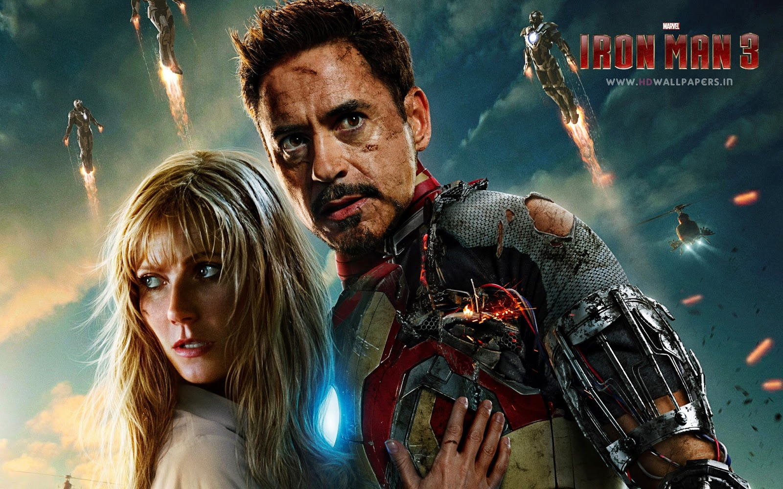 Tony Stark Iron Man 3 Wallpaper HD