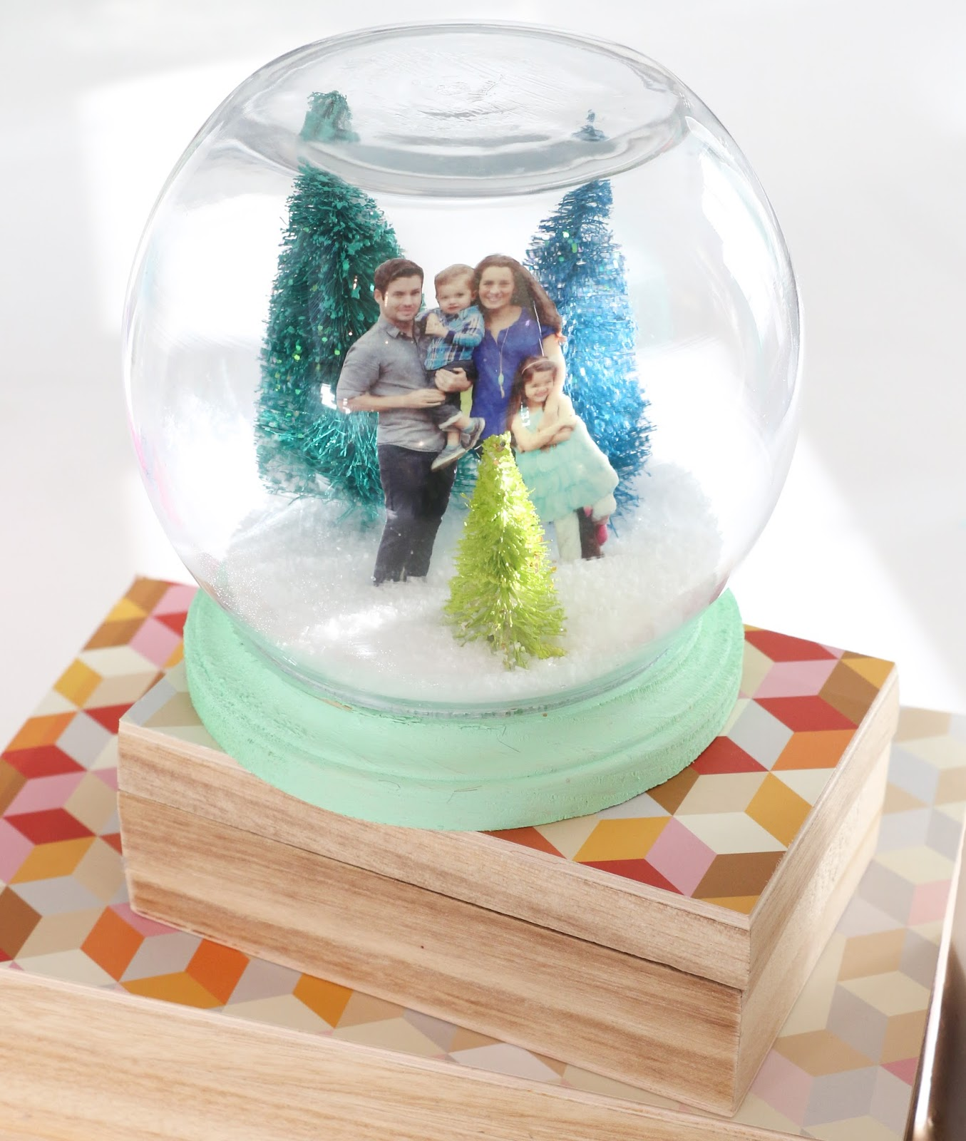 this year however i wanted to try something different so i decided to add a personalized touch to my diy snow globe and it turned out oh so cute