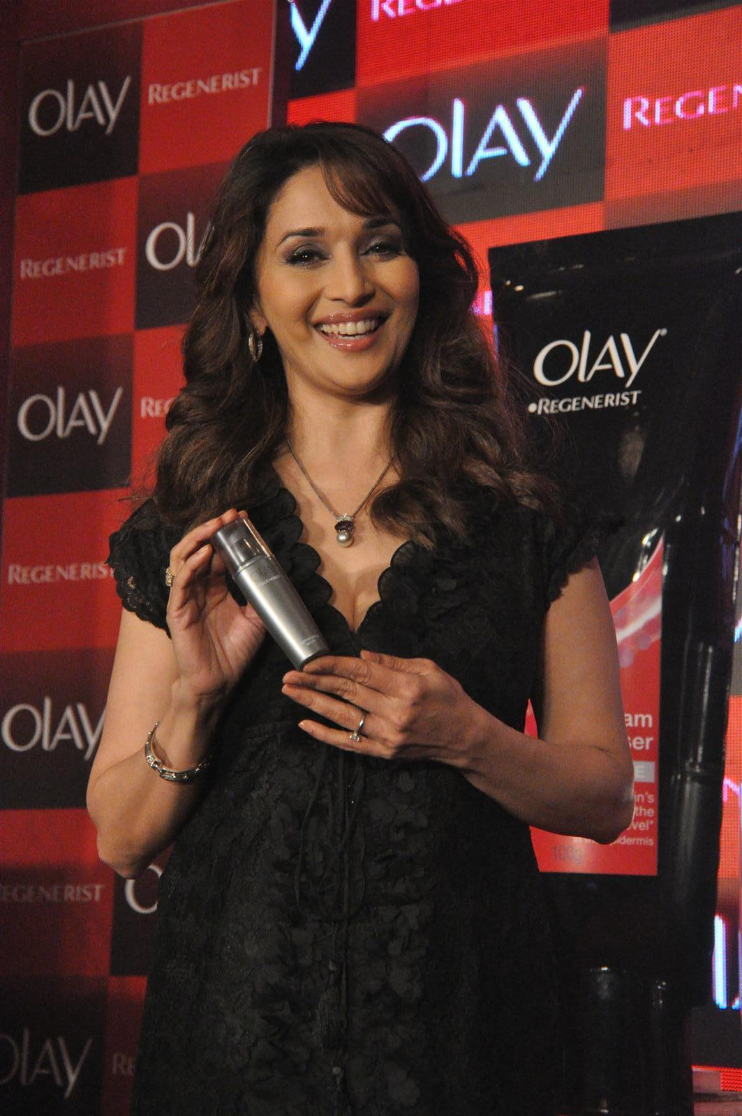 Madhuri Dixit Looks Sexy At The Launch Of Olay Regenerist